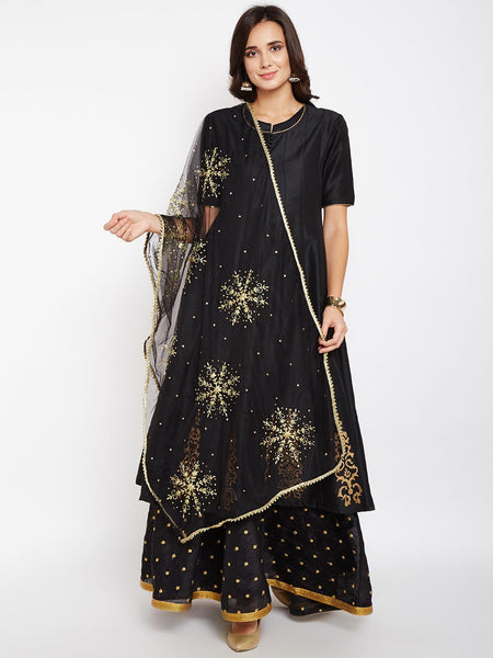 Net Boota Embroidered Dupatta