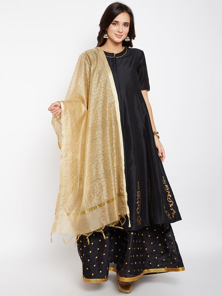 Faux Chanderi Block Printed Dupatta