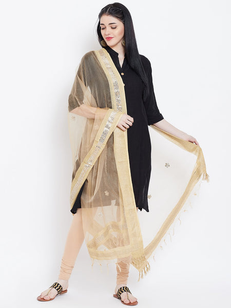 Organza Foil Embroidered Dupatta