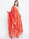 Silk Gota Patti Embroidered Dupatta