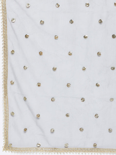 Net Sequin Embellished Dupatta