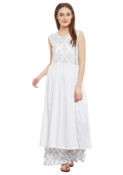 Cotton Viscose Block Printed Side Slit Kurta