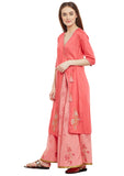 Cotton Viscose Block Printed Angrakha Kurta