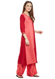 Cotton Viscose Block Printed Colour Blocked Kurta