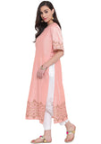 Cotton Silk Hand Block Printed High Slits Kurta