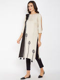 Cotton Viscose Dip-Dye Block Printed Kurta