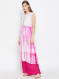 Cotton Viscose Tie & Dye Embellished Kurta