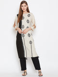 Cotton Viscose Hand Block Printed Kurta