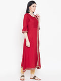 Viscose Block Printed Side Slit Kurta