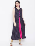 Viscose Block Printed Faux Layered Kurta
