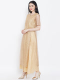 Net Gota Embroidery Attatched Layered Maxi Kurta