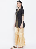 Cotton Silk Embellished Short Kurta