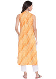 Cambric Hand Block Printed Cut-out Kurta