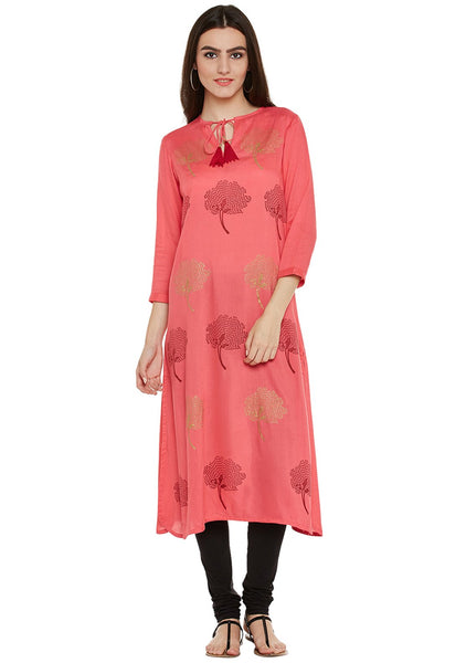 Cotton Viscose Block Printed Kurta