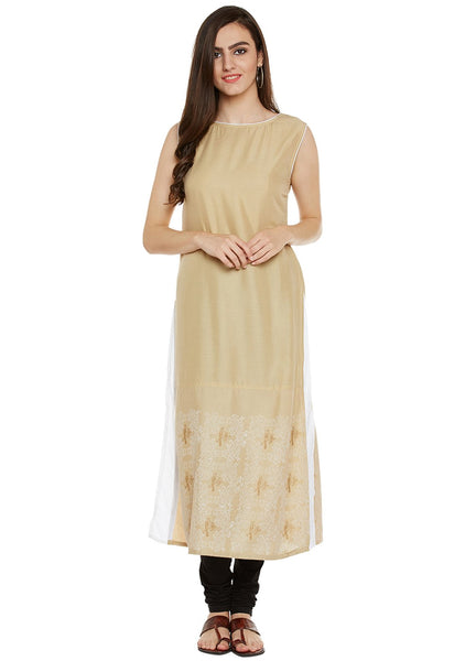 Cotton Viscose Block Printed Layered Kurta