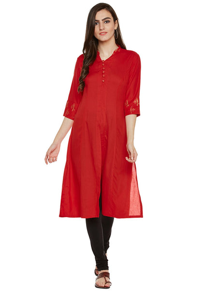 Cotton Viscose Block Printed Princess Kurta