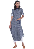 Cotton Viscose Printed Cowl Kurta