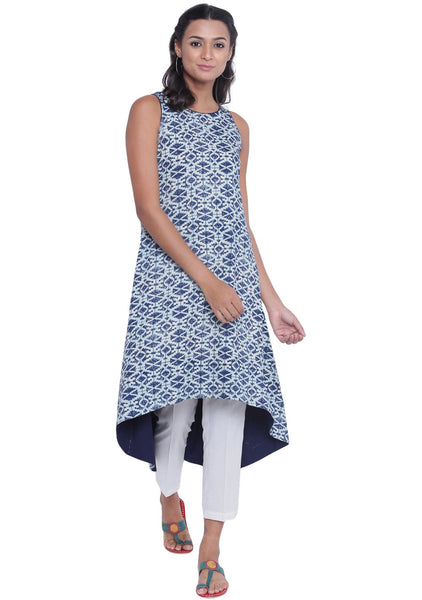 Cotton Viscose Printed High low Kurta
