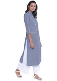 Cotton Stripe Pocket Button down Kurta