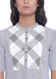 Cotton Stripe High Low Kurta