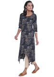 Cotton Cambric Printed Asymmetric Kurta