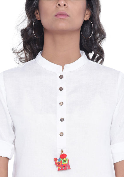 Flex Viscose Solid Short Kurta