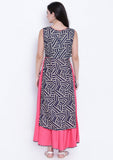 Cotton Viscose Printed Faux layered Kurta