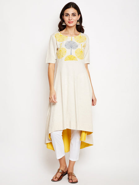 Flex Viscose Hand Block Printed A-line Kurta Set
