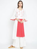 Cotton Slub Hand Block Printed Bell Sleeves Kurta Set
