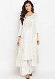 Cotton Viscose Block Printed Layered Kurta Set