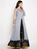 Georgette Embroidered High Slit Maxi Kurta Set