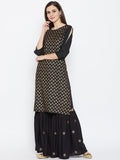 Cotton Viscose Hand Block Printed Kurta Set