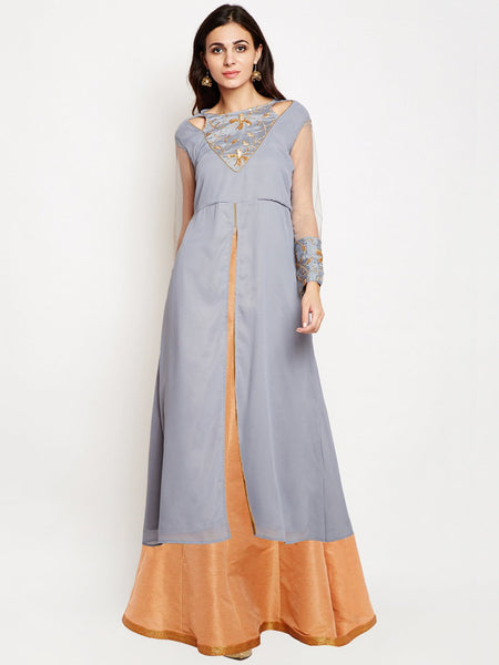 Georgette Embroidered Kurta Set