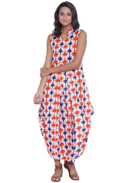 Cotton Viscose Printed Cowl Kurta Set
