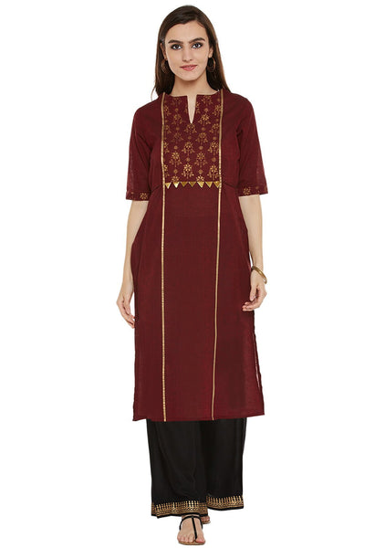 Cotton Mangalgiri Block Printed Panelled Kurta Set