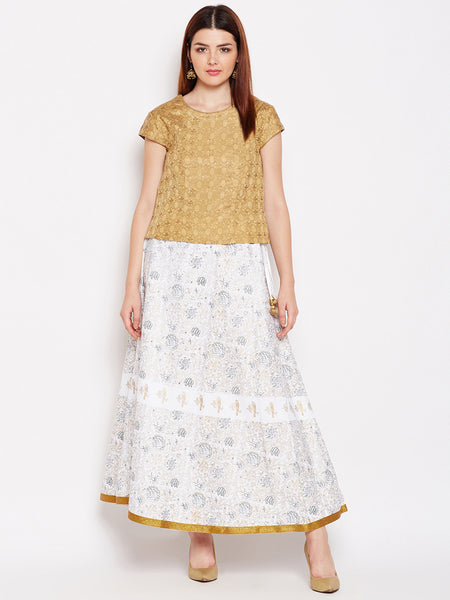 Cotton Silk Block Printed Lehenga Set