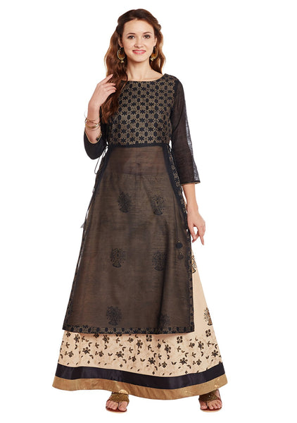 Cotton Block Printed Kurta Set