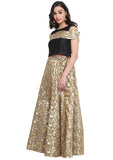 Faux Chanderi Brocade Kalidaar Lehenga Set
