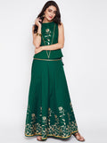 Cotton Poplin Hand Block Printed Lehenga Set