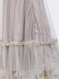 Net Speckled Lace Embellished Tiered Lehenga Set