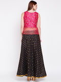 Dupion Embroidered Lehenga Set