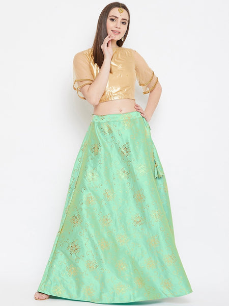 Silk Rubber Printed Lehenga Set