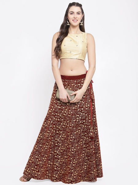 Velvet Embroidered Kalidaar Lehenga Set