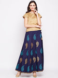 Cotton Hand Block Printed Lehenga Set