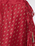 Dupion Block Printed Lehenga Set