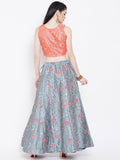Dupion Embroidered Kalidaar Lehenga Set