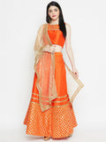 Dupion Gota Half and Half Lehenga Set
