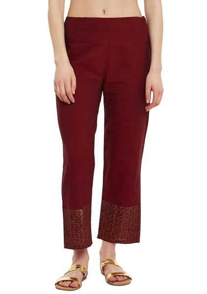 Cotton Mangalgiri Block Printed Pants