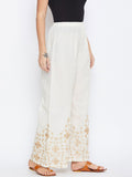 Cotton Embroidered Palazzo