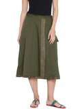 Flex Viscose Hand Block Printed Overlap Skirt